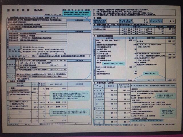 日本政策金融公庫の創業計画書